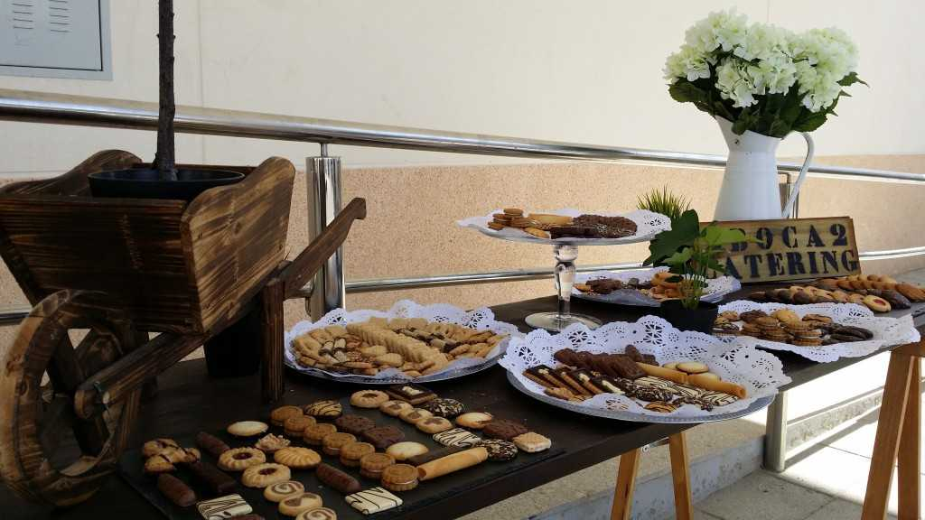 Buffet de galletas y pastas